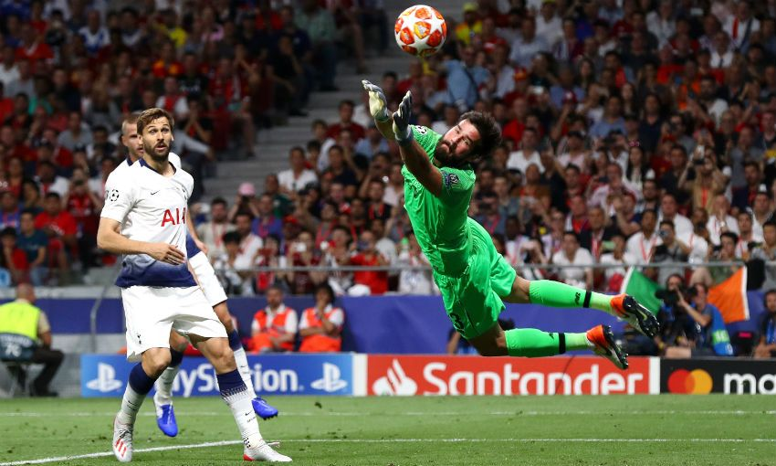 alisson becker save champions league final