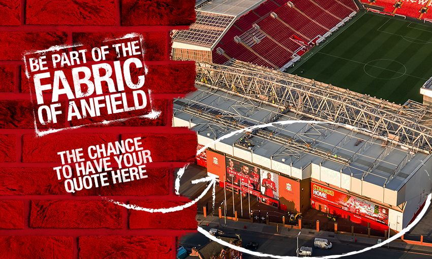 Competition: Be part of the fabric of Anfield