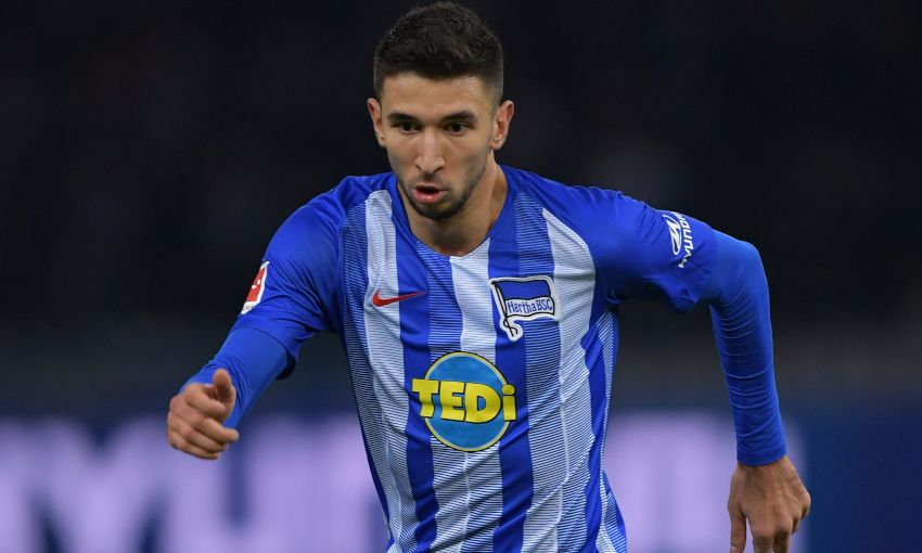 Marko Grujic in action for Hertha BSC