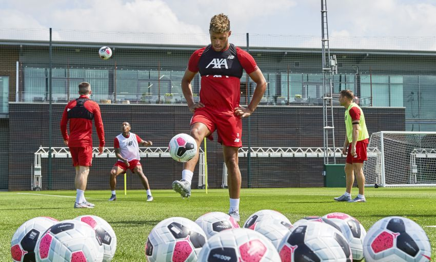 Liverpool in pre-season training on July 7