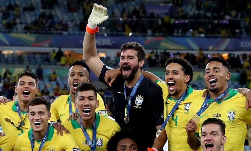 Alisson And Firmino Win 2019 Copa America With Brazil Liverpool Fc