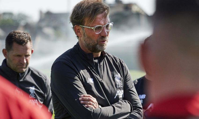 Liverpool manager Jürgen Klopp at Melwood