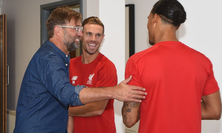 Trent Alexander-Arnold, Jordan Henderson and Virgil van Dijk return to Melwood
