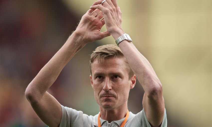 Stephen Darby at Bradford City v Liverpool