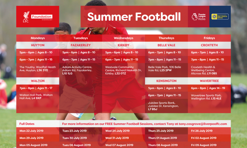 Download our Kicks Football Summer Timetable Here!