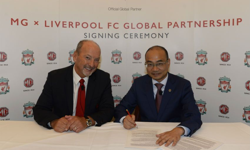 MG Motors x Liverpool FC partnership