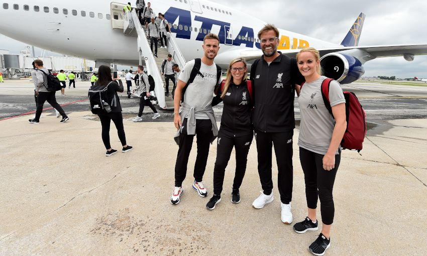 Liverpool arrive in South Bend, Indiana - July 16, 2019
