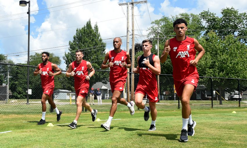 Liverpool train at Notre Dame - July 17