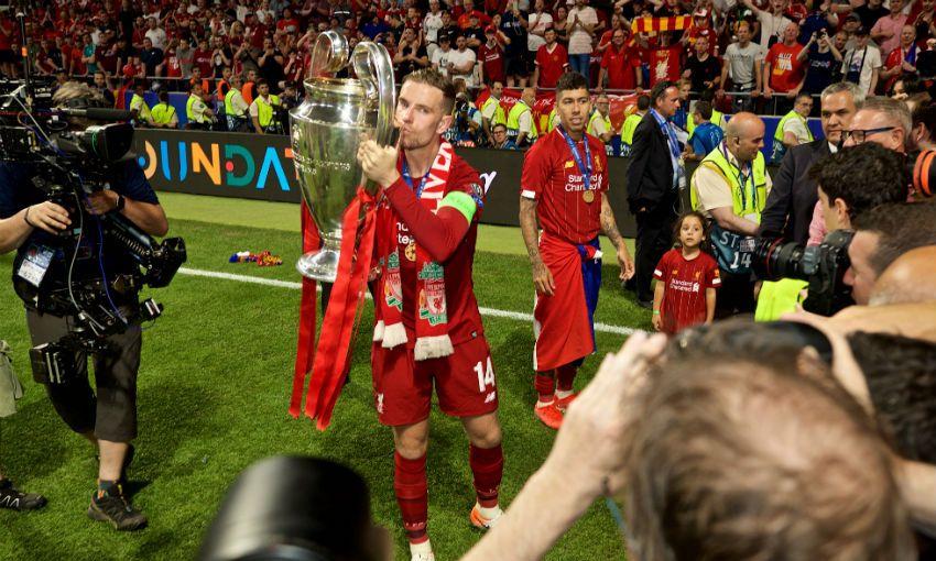 Jordan Henderson with Champions League trophy