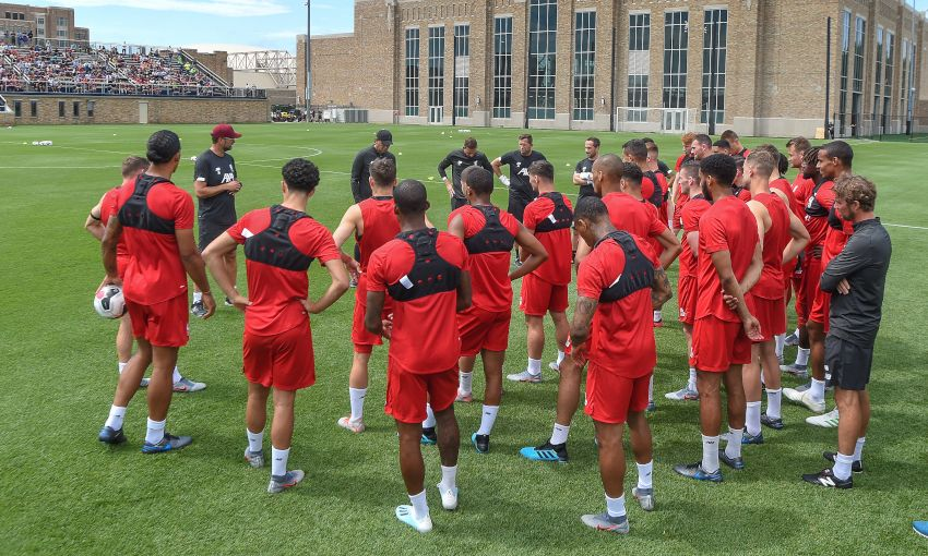Liverpool hold open training session at Notre Dame University