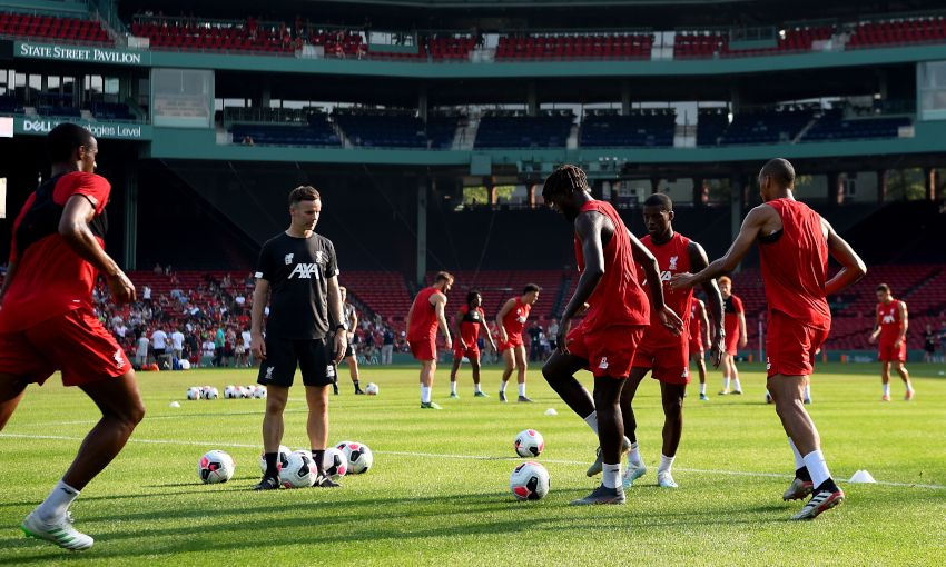 Liverpool training session at Fenway Park