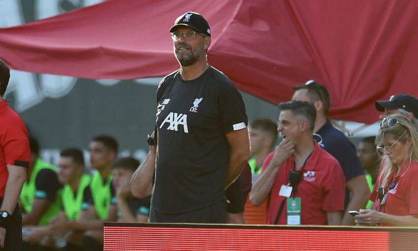 Liverpool manager Jürgen Klopp at Fenway Park