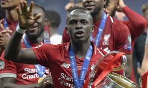 Sadio Mane with the European Cup