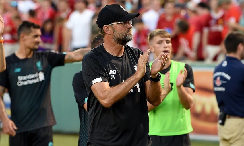 Jürgen Klopp at Fenway Park