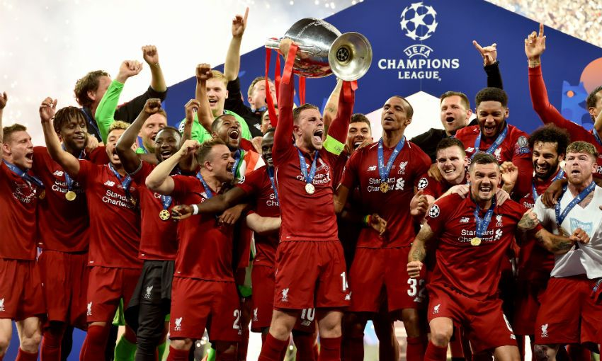 Jordan Henderson Champions League trophy lift