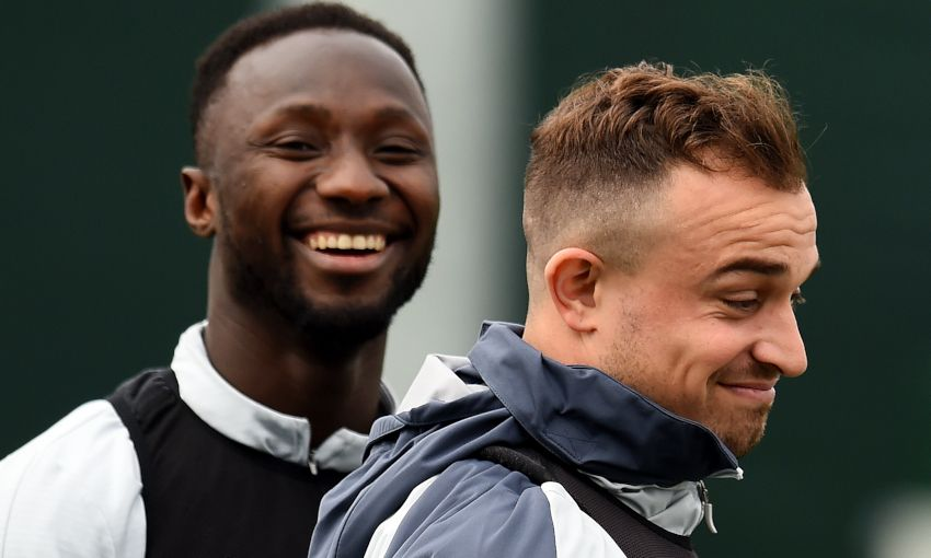 Naby Keita and Xherdan Shaqiri