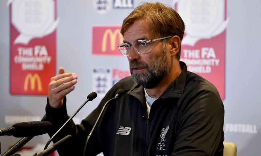 Jürgen Klopp FA Community Shield press conference