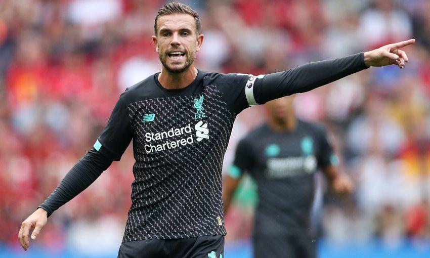 Jordan Henderson in action for Liverpool