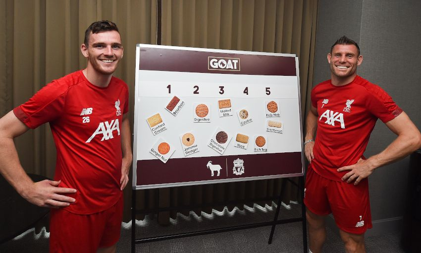 Watch: Robbo and Milner decide the dunking biscuit GOAT