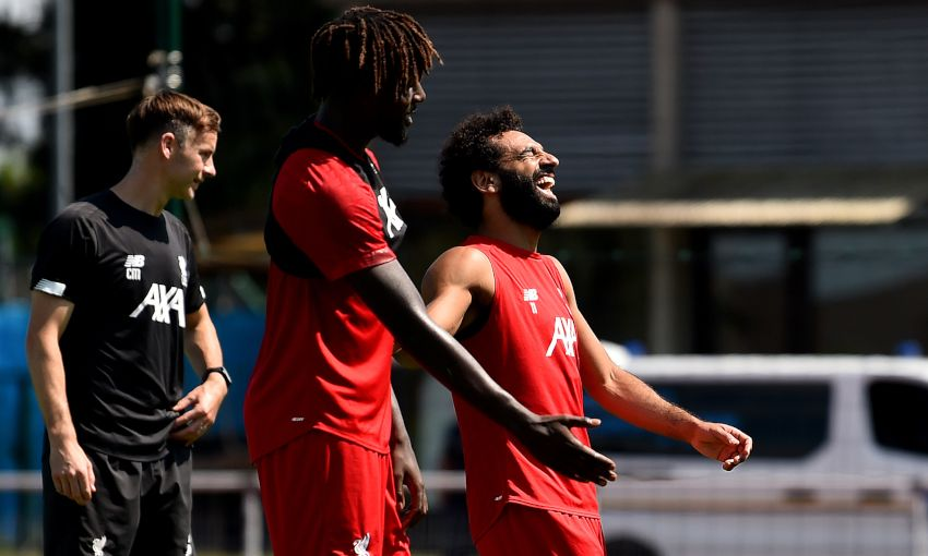 Liverpool training in Evian on August 2, 2019