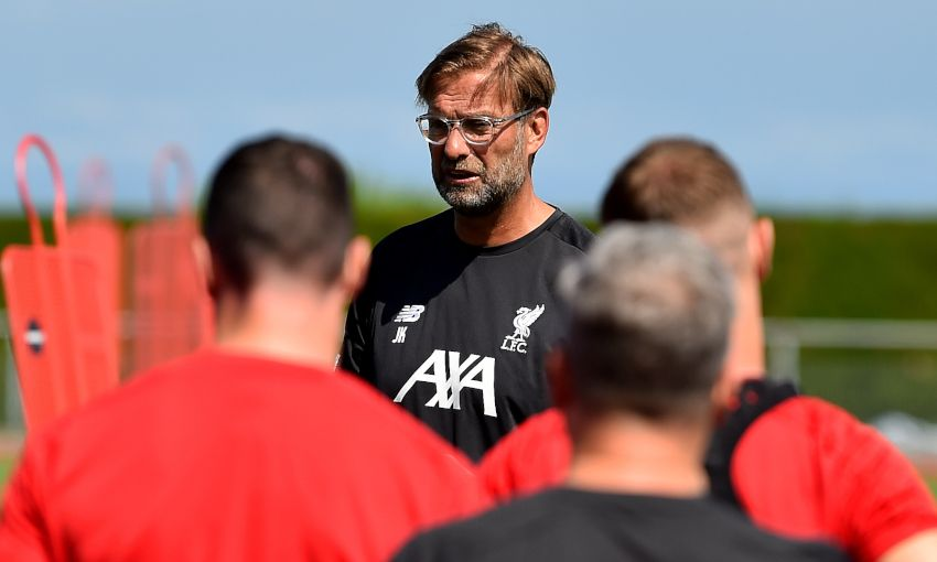 Jürgen Klopp at training