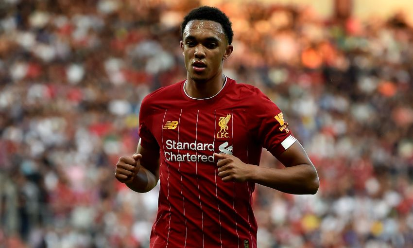 Trent Alexander-Arnold in action for Liverpool
