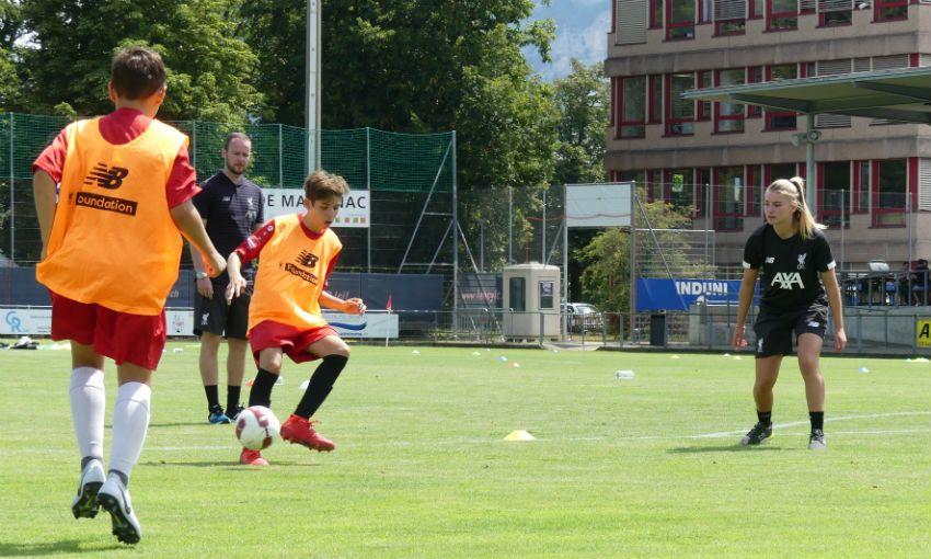 LFC Foundation soccer clinics in Geneva