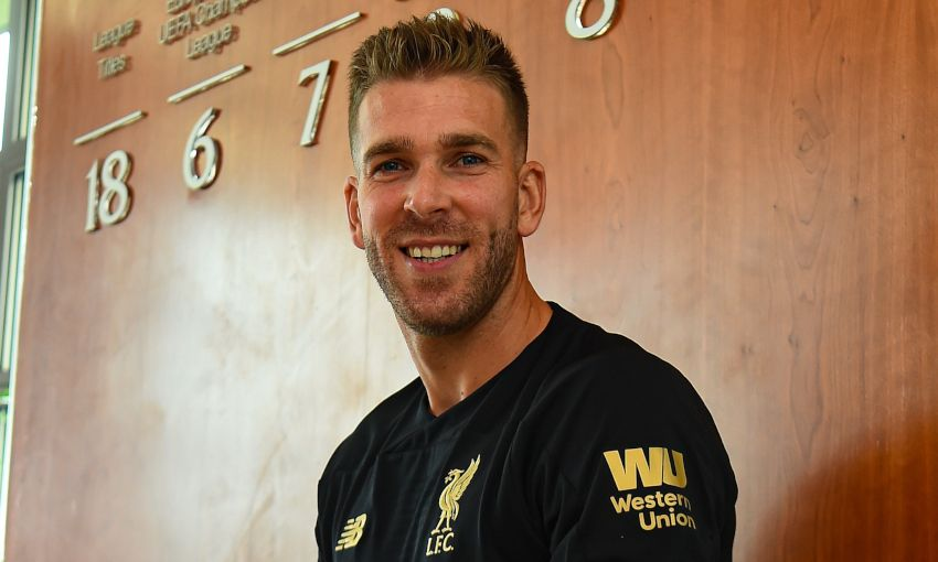 Adrian signs for Liverpool FC at Melwood