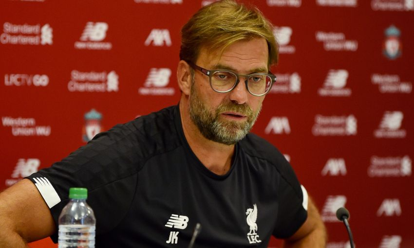 Jürgen Klopp at his pre-Norwich City press conference