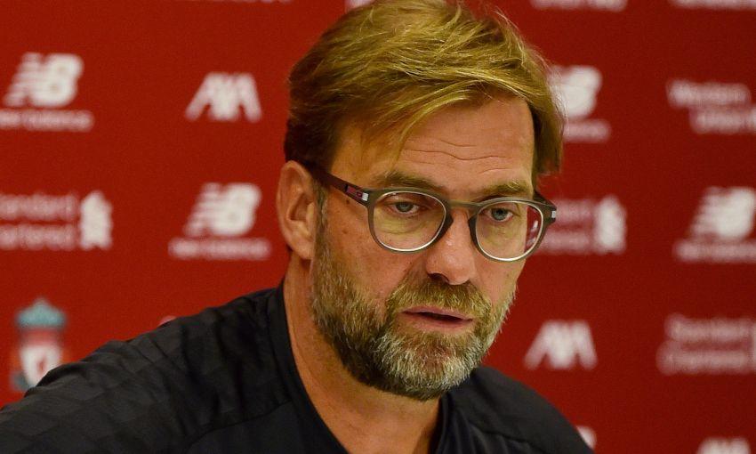 Jürgen Klopp at his pre-Norwich City press conference