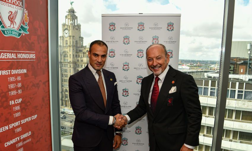 Liverpool FC and Signature Bespoke partnership