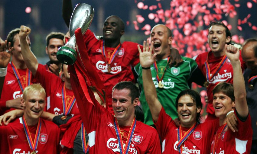 Liverpool win UEFA Super Cup in 2005