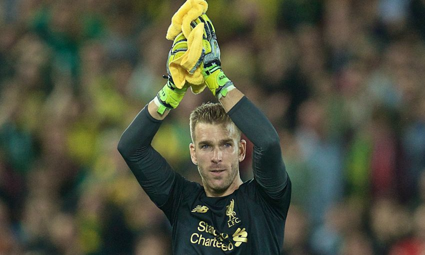 Adrian applauds the Liverpool fans at Anfield