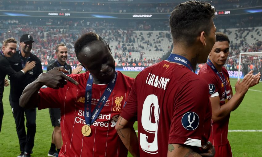 Sadio Mane and Roberto Firmino at the UEFA Super Cup