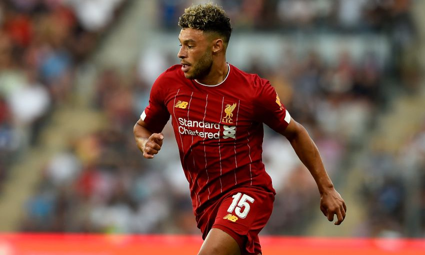 Alex Oxlade-Chamberlain in action for Liverpool