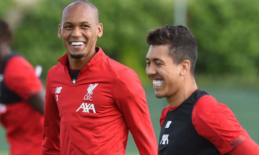 Fabinho and Roberto Firmino