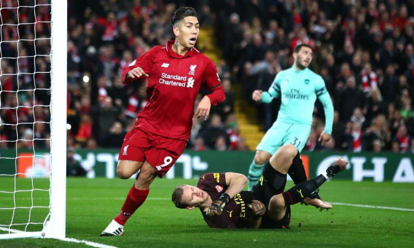 Roberto Firmino hat-trick against Arsenal