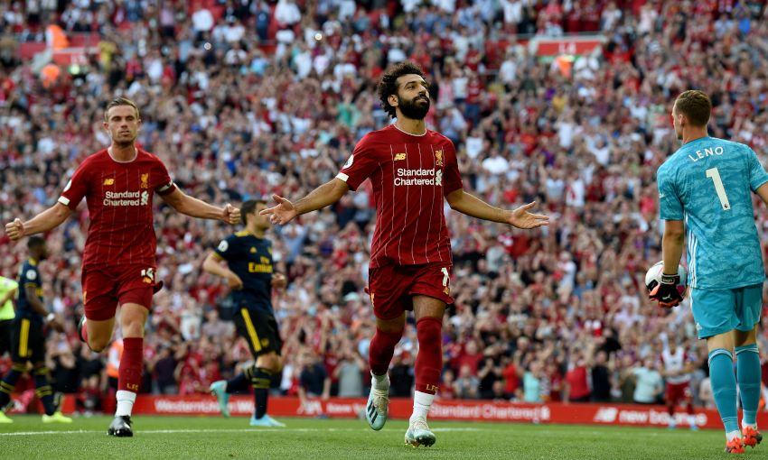 Image result for salah vs arsenal