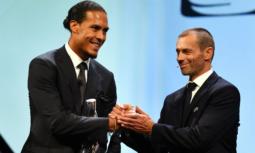 Image result for Van Dijk named the Uefa Player and Defender of the year
