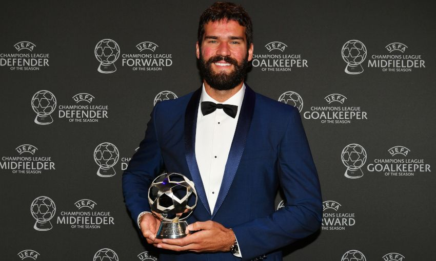 Alisson Becker wins 2018-19 Champions League Goalkeeper of the Season