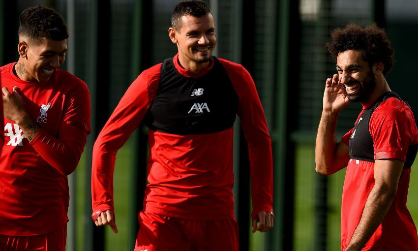 Liverpool FC training session at Melwood, August 2019