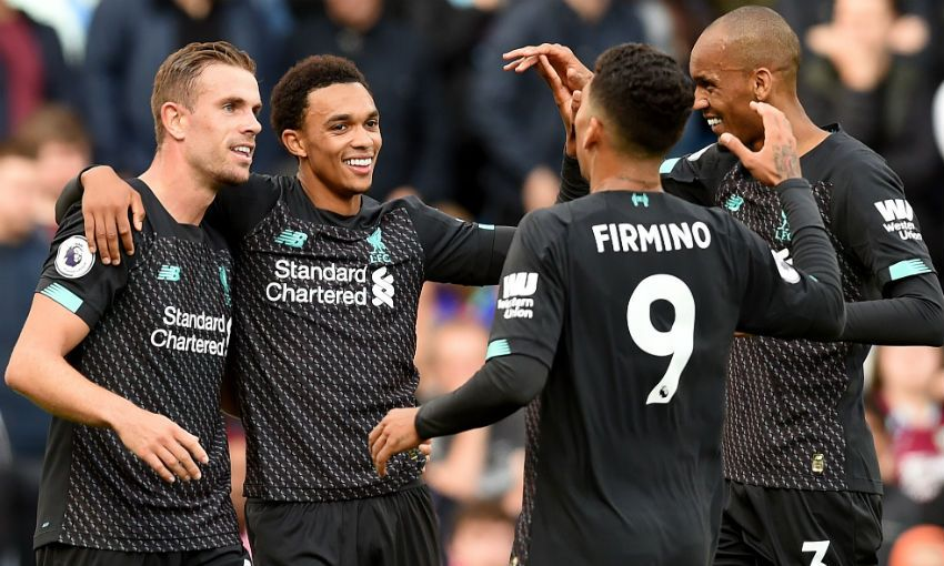 Trent Alexander-Arnold celebrates goal during Burnley 0-3 Liverpool