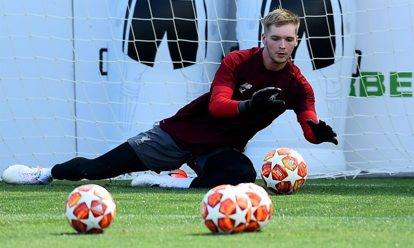 Caoimhin Kelleher Liverpool training