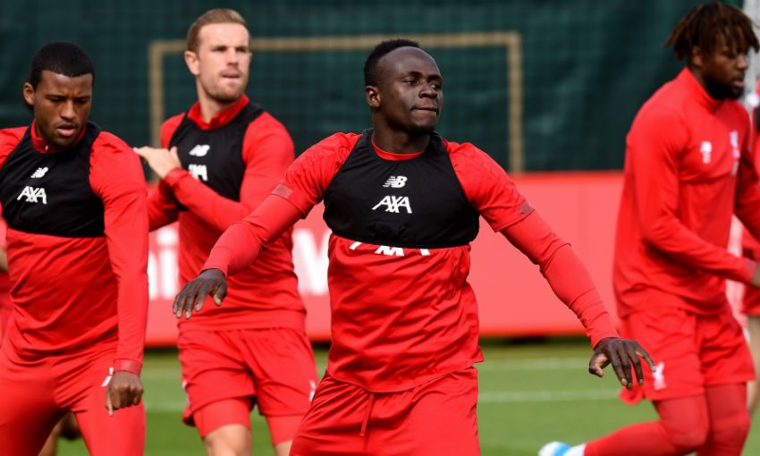 Liverpool FC training session at Melwood, September 2019