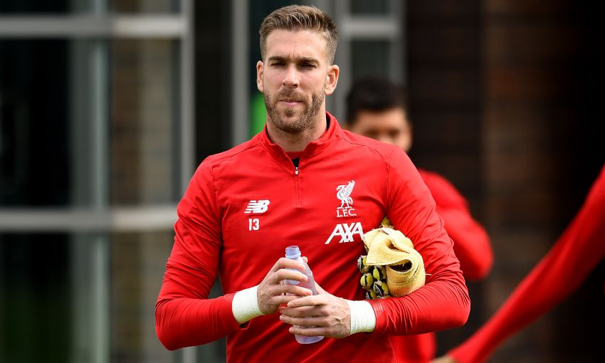 Adrian in training at Melwood