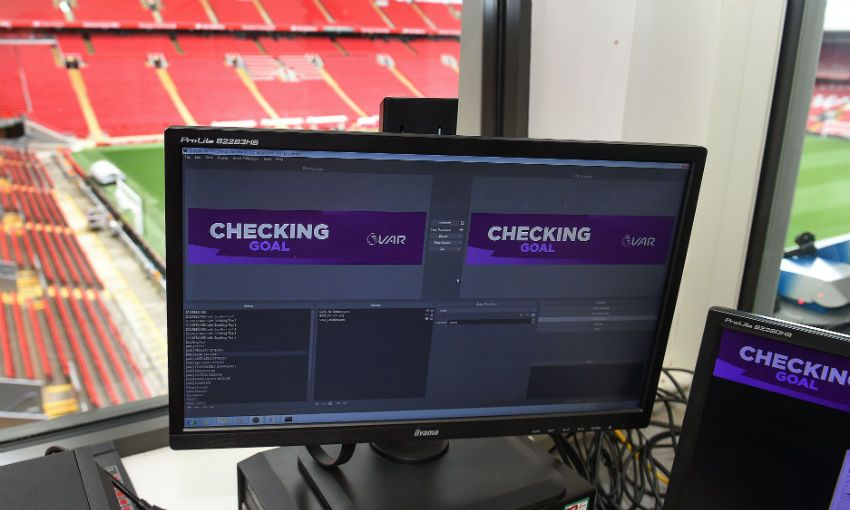 Anfield matchday control room VAR