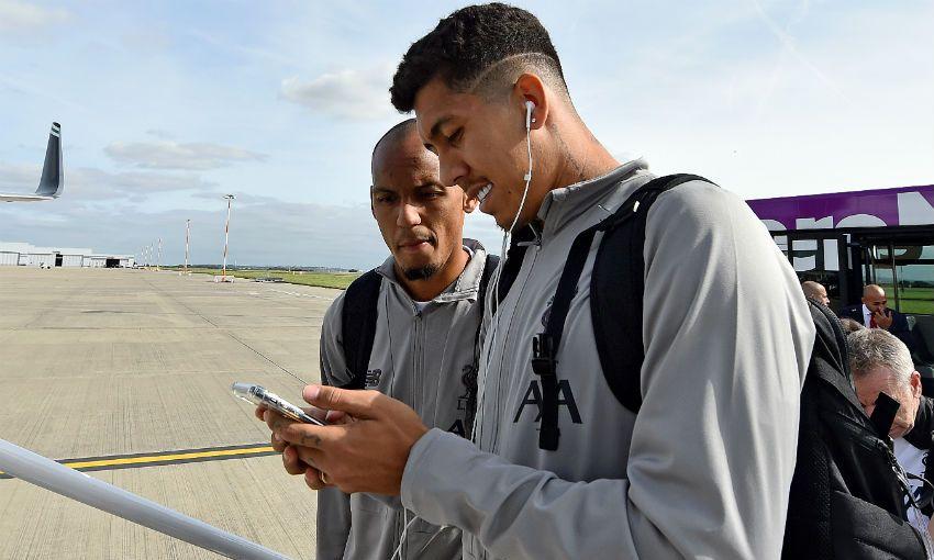 Liverpool FC team flight to Naples, September 2019