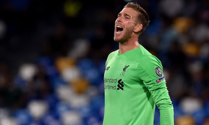 Adrian reacts during Napoli v Liverpool