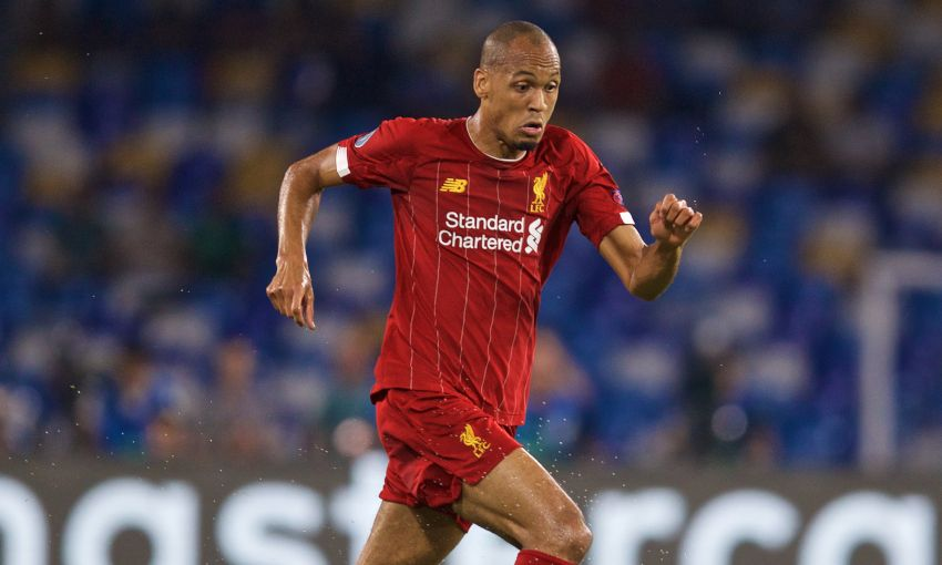 Fabinho in action for Liverpool
