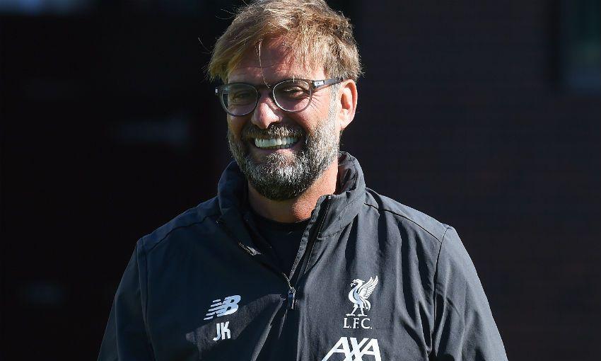Jürgen Klopp Liverpool training